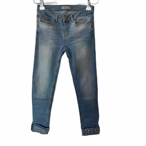 ZARA Pearl Cuff Skinny Jeans 4